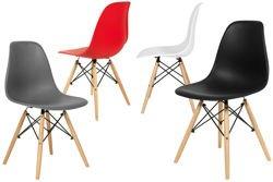 Krzesło do jadalni MEDIOLAN 4 szt. - zestaw wielokolorowy