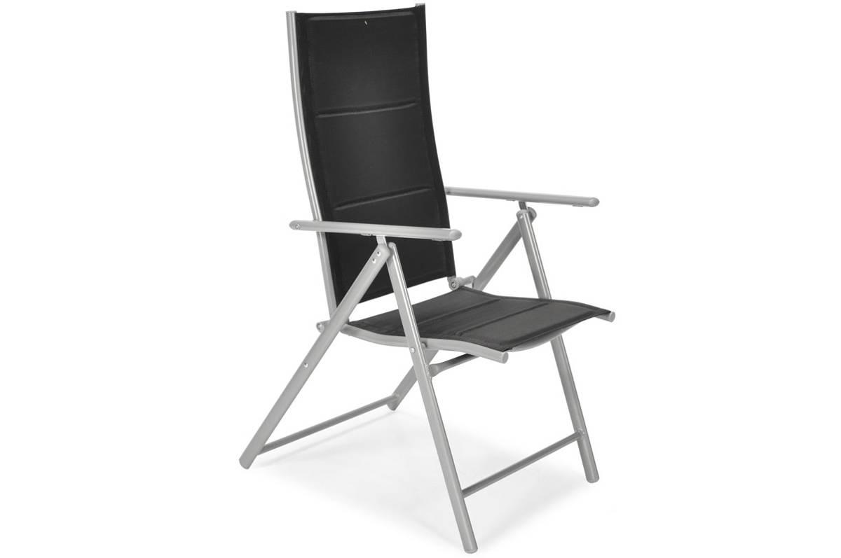 Krzesło Ogrodowe Składane Aluminiowe Modena Czarne