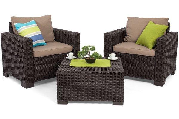 Fotel ogrodowy CALIFORNIA x 2 szt. - brązowy