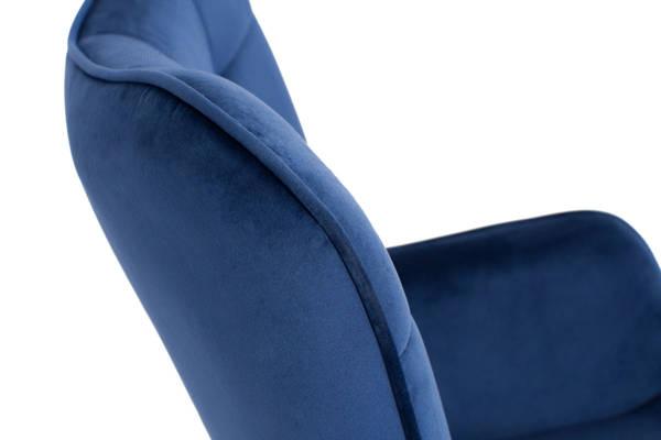 Fotel uszak tapicerowany LOFT CASTEL - granatowy