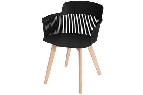 Głębokie stylowe krzesło fotel IMPERIA - czarne