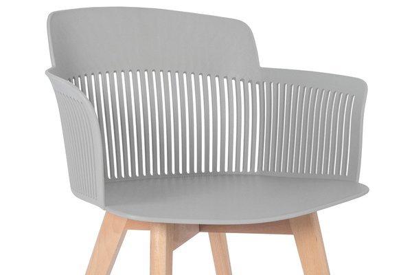 Głębokie stylowe krzesło fotel IMPERIA - szare