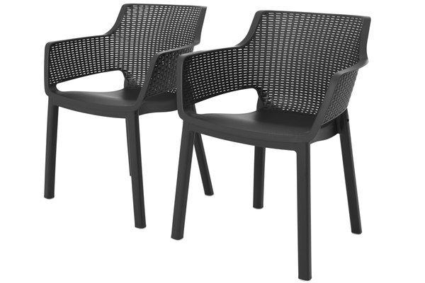 Komplet ogrodowy 8-osobowy EVA + stół JULIE - grafitowy