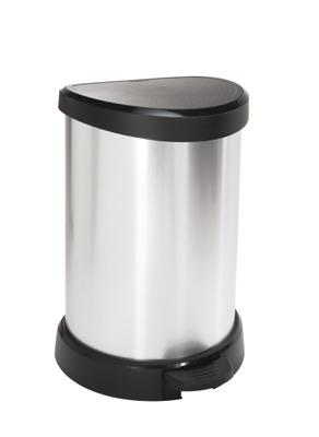 Kosz na śmieci CURVER metalizowany 20L