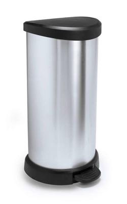 Kosz na śmieci CURVER metalizowany 40L