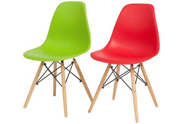 Krzesło do jadalni DSW DAW Eames MEDIOLAN - zielone