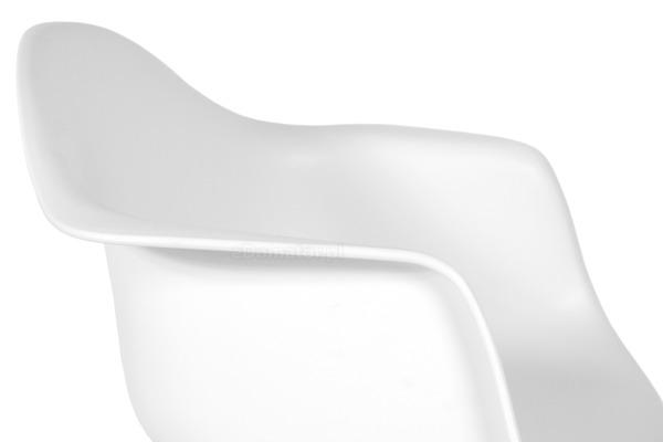 Krzesło do jadalni plastikowe FLORENCJA - białe
