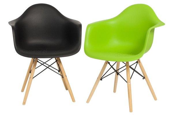 Krzesło do jadalni plastikowe FLORENCJA - zielony OUTLET