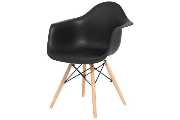 Krzesło nowoczesne FLORENCJA czarne - 4 szt.