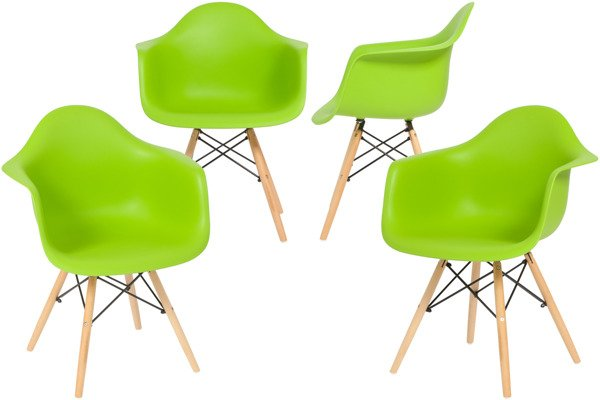 Krzesło nowoczesne FLORENCJA zielone - 4 szt.