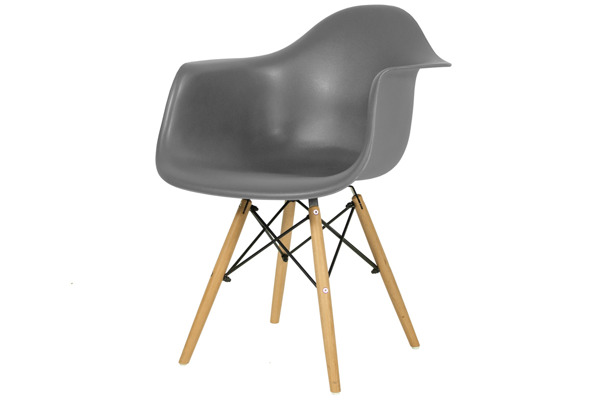 Krzesło nowoczesne plastikowe FLORENCJA - grafitowe
