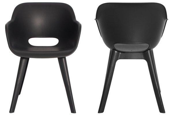 Krzesło ogrodowe do jadalni AKOLA - grafit