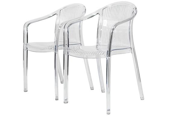 Krzesło plastikowe IMPERIALE - bezbarwne