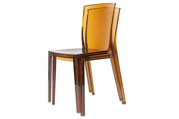Krzesło plastikowe KING - brązowe