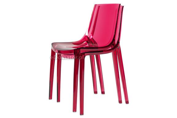 Krzesło plastikowe PENGUIN - czerwone