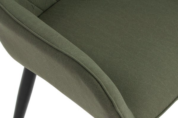 Krzesło tapicerowane fotelowe EMMA  - oliwkowa zieleń