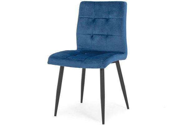 Krzesło tapicerowane glamour DIANA - granatowe