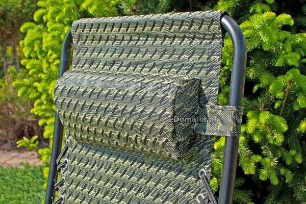 Leżak ogrodowy składany ZERO GRAVITY z podstawką - zielony