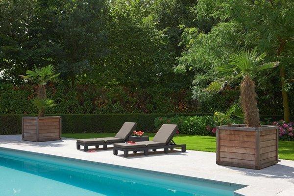 Leżanka basenowa leżak DAYTONA - brązowy
