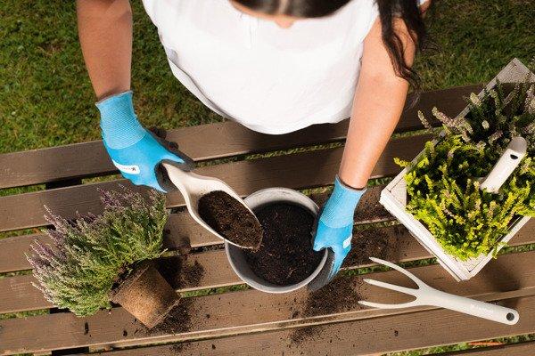Mały zestaw narzędzi ogrodowych PASTEL ERGO - beżowy