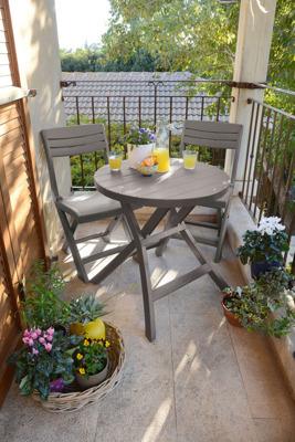 Meble balkonowe JAZZ zestaw 2-osobowy - cappuccino