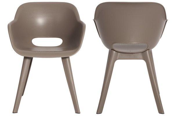 Meble ogrodowe ALLIBERT - 6 krzeseł AKOLA + stół LIMA cappuccino
