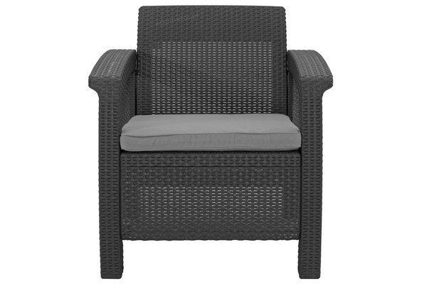 Meble ogrodowe CORFU REST 2 kanapy i 2 fotele - grafit