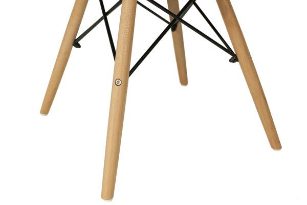 Nowoczesne plastikowe krzesło MEDIOLAN - grafitowe