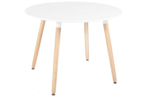 Nowoczesny biały stół okrągły MEDIOLAN 100