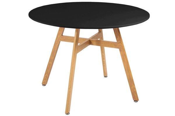 Nowoczesny stół okrągły BOLONIA 100 - czarny