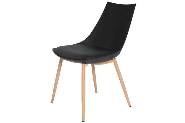 OUTLET - Krzesło z poduszką SARA - czarne