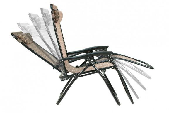 OUTLET - Leżak ogrodowy ZERO GRAVITY rozkładany - grafitowy