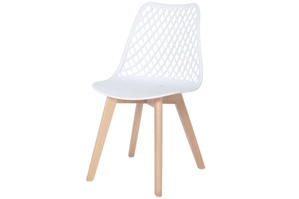 OUTLET - ażurowe krzesło NICEA - białe