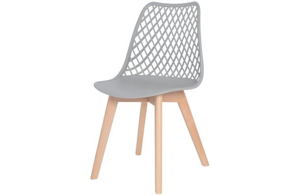 OUTLET - ażurowe krzesło NICEA - szare