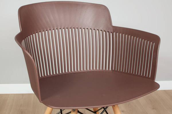OUTLET - krzesło fotel IMPERIA - brązowe