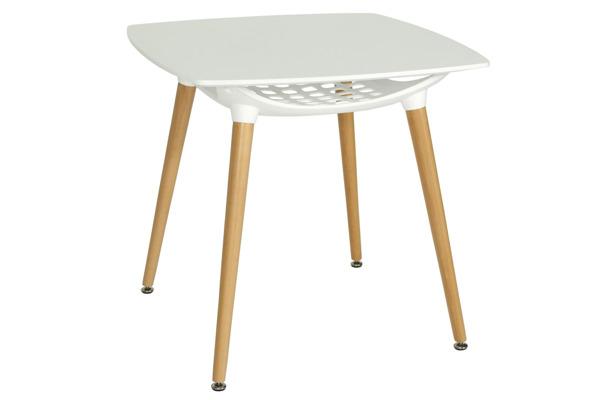 OUTLET - stół MEDIOLAN 80x80 - biały