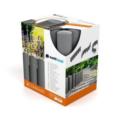Palisada ogrodowa 4 STANDARD 2,3 m - grafitowa