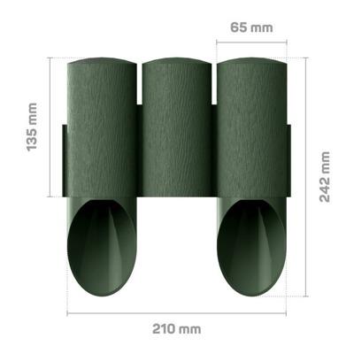 Palisada ogrodowa MAXI 2,1 m - zielona