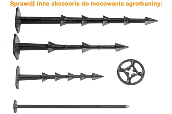 Podkładki do szpilek kotwic kołków 100 szt. 45 mm do agrowłókniny