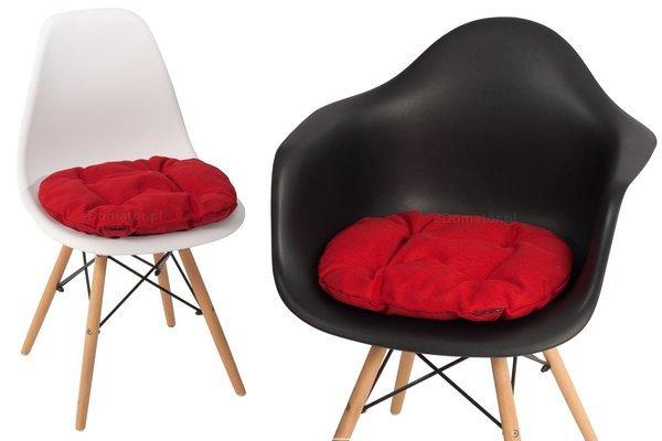 Poduszka na krzesło KAMILA 43 x 40 cm - czerwona