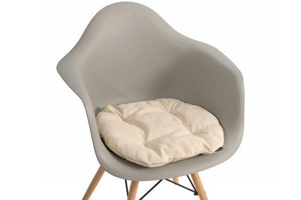 Poduszka na krzesło KAMILA 43 x 40 cm - kremowa