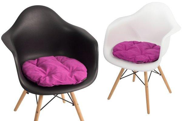 Poduszka na krzesło KAMILA 43x40 cm - fuksja