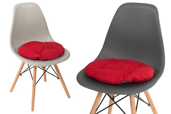 Poduszka okrągła na krzesło OFELIA 40 cm - czerwona