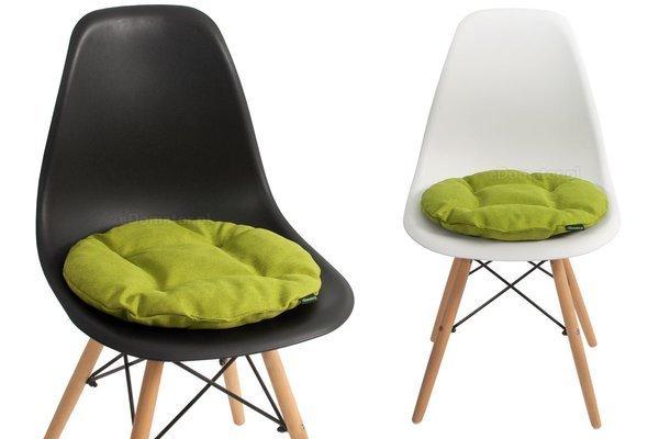 Poduszka okrągła na krzesło OFELIA 40 cm - limonka