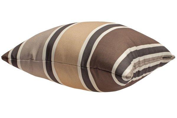 Poduszka ozdobna AMELIA 40x40 cm - PASY brąz