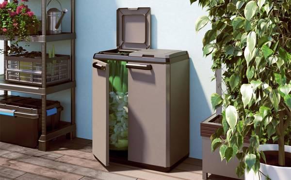 Schowek pojemnik na odpady Keter KIS SPLIT basic