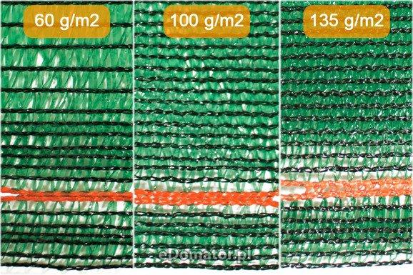 Siatka cieniująca 2,0x25m 95% 170g/m2  UV Zielona
