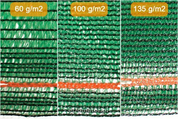 Siatka cieniująca maskująca 2,0x25m 60% UV +opaski