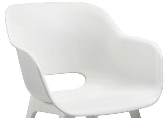 Siedzisko ogrodowe AKOLA - białe