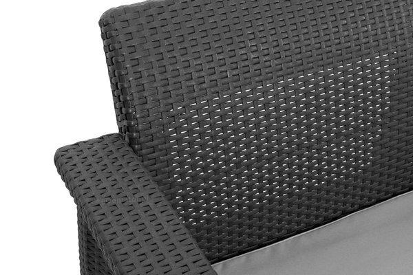 Sofa ogrodowa CORFU Max Love Seat 3-osobowy - grafitowa